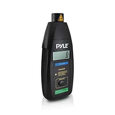 PYLE PLT26 Digital Non Contact Laser Tachometer with LCD Display