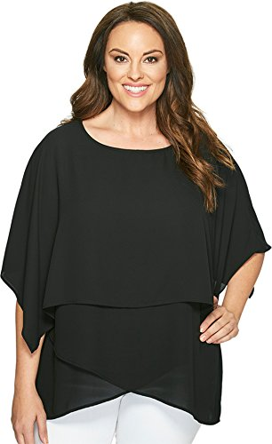 Karen-Kane-Plus-Womens-Plus-Size-Layered-Crossover-Top