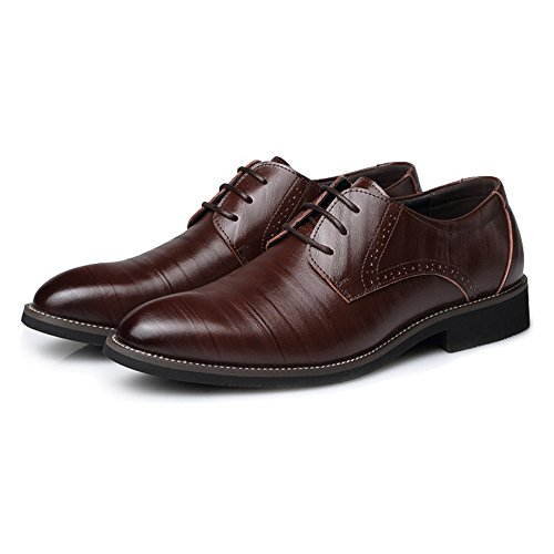 Formale Low Oxford Da Scarpe Classiche Mocassini Fashion Stringate Coffee Pu Uomo Slipper Pelle Foderato Iwgr Top In z71Owqq