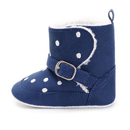 BZLine Baby Stiefel, Baby Soft Druckstiefel-Schnee-Aufladungs-Säuglingskleinkind Schuhe Blau