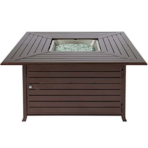 amazoncom best choice products bcp extruded aluminum gas outdoor fire pit table with cover patio lawn u0026 garden