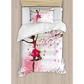 Amazon Com Ballerina Pink Duvet Cover Bed Set Girl S