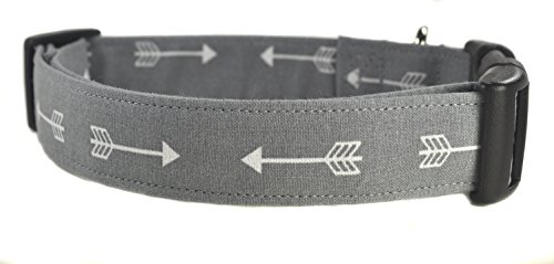Gray Arrow Dog Collar - The Arrows in Gray by Collars by Design
