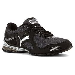 PUMA Women's Cell Riaze Wn's Heather FM Cross-Trainer Shoe, Puma Black/Steel Gray, 8 M US