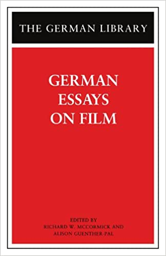 com german essays on film german library  81 german essays on film german library 1st edition