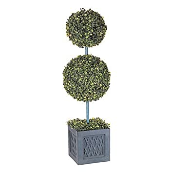 Amazon new wilson fisher large 35 double ball topiary new wilson fisher large 35quot double ball topiary lighted clear led outdoor tree artificial workwithnaturefo