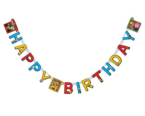 Super Mario Birthday Party Banner -