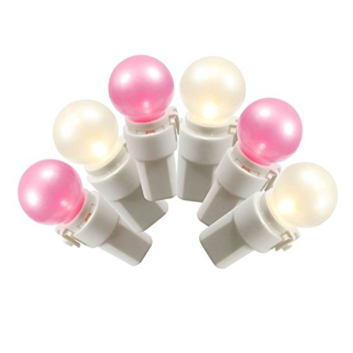 50Lt LEDPk-Wht Satin G15 EC Set WW - Christmas Lights G15
