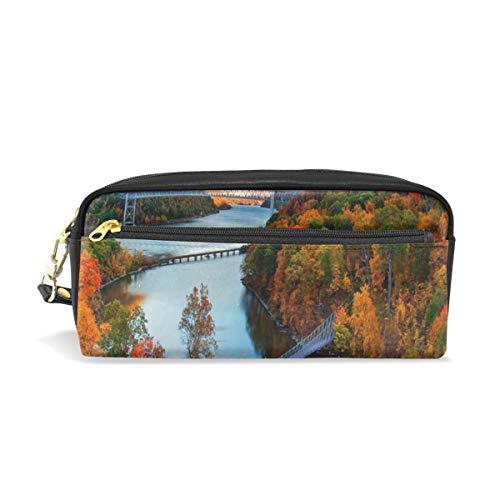 Pencil Case/Makeup Bags Hudson River Valley Autumn Big Capacity Portable Pencil Bag for College Students/Women/Adults