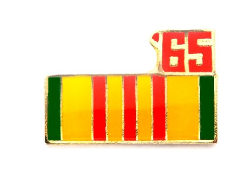 (Vietnam Veteran 1965 Ribbon Lapel Hat Pin Marines Army Navy Air Force PPM793)