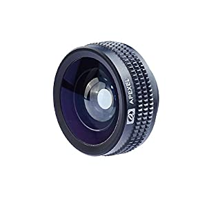 Apexel 180 Degree Fisheye Lens/ Fish Lense for iPhone 4 4S 5 5S 5C 6 6 Plus,iPad, Samsung Galaxy S3 S4 S5 Note 2 3 4 LG Sony HTC Phones Tablets Black