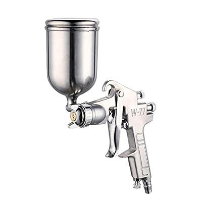 Baoblaze 3.0mm Nozzle Air Spray Gun HVLP Gravity Feed Auto Paint Repair Sprayer W-77