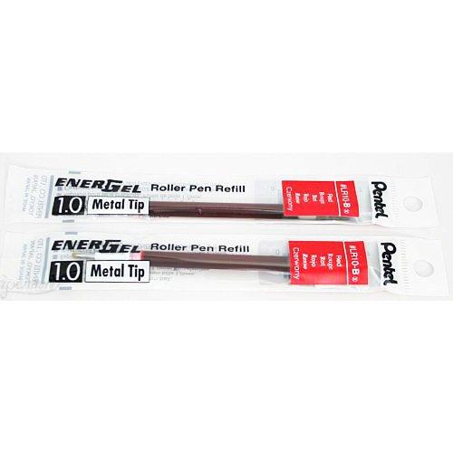 2 Pk Pentel LR10-B EnerGel Refills, 1.0 mm Bold, Red