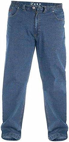 (デューク・ロンドン) Duke London メンズ 大きいキングサイズ Bailey ゴムウエスト ジーンズ デニムパンツ