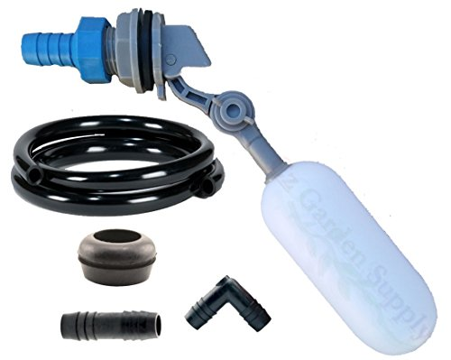 Pond Float - Cz Garden Supply Cz Float Valve Auto Top-Up Kit for Ponds • Swimming Pools • Livestock Water Trough • Aquaponics • Aquaculture • Hydroponics Tank Reservoir (1/2