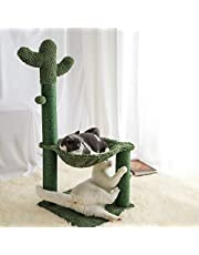 Catinsider Cactus Cat Scratching Post Cat Bed for Cats Brown Large