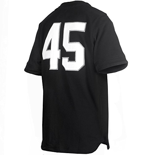 san francisco a737f fcf64 Jordan Men's Nike Chemise 45 Baseball Jersey-Black/White ...