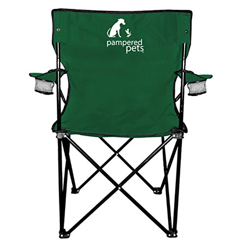 Pampered Pets Folding Chair with Carrying Bag, Hunter Green