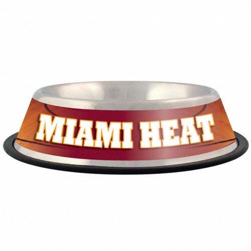 Hunter Miami Heat Stainless Steel Pet Bowl, 32 oz.