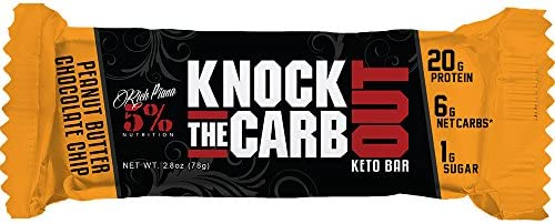 5% Nutrition - Rich Piana Knock the Carb Out Bar (10x68g) Peanut Butter Chocolate Chip Ohne Pfand, 680 g