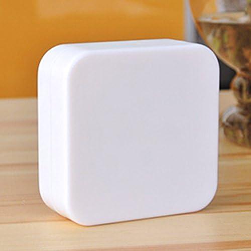 Momongel weiße, quadratische mechanische Eieruhr, Küchenwecker, 60-Minuten-Uhr für die Küche