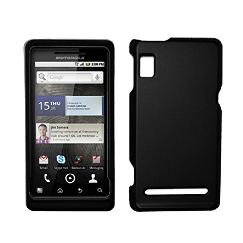 Snap A955 (Black Rubberized Hard Cover Crystal Case for Motorola Droid 2 A955 [Accessory Export Packaging])