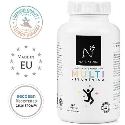 Complejo multivitamínico para hombre y mujer, a base de vitaminas y minerales. Reduce el
