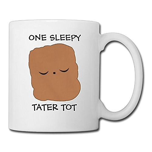 Ceramic Personalized One Sleepy Tater Tot Cup Cute Coffee Mugs