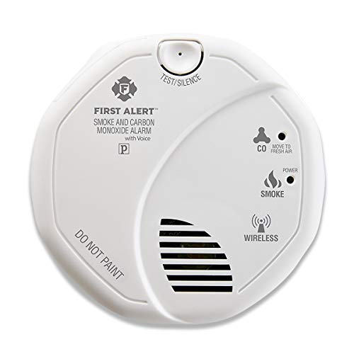 (First Alert SCO501CN-3ST Battery Operated Combination Smoke and Carbon Monoxide Alarm with Voice Location )