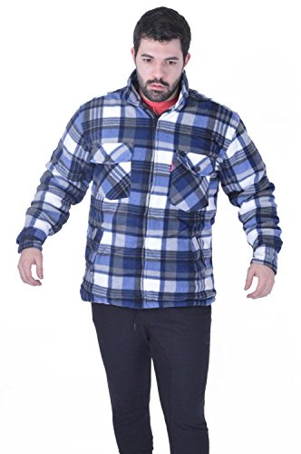 My Mix Trendz Mens Padded Shirts Long Sleeve Shirt Flannel C