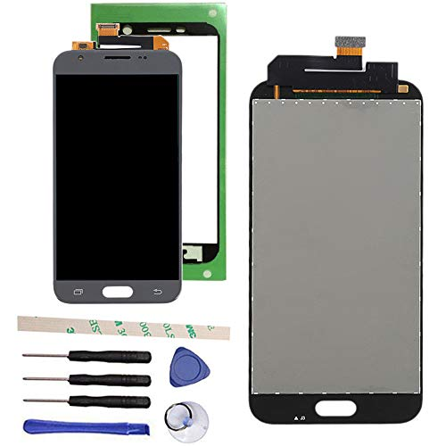 100% Tested LCD Display Touch Screen Digitizer Assembly For Galaxy J3 2017 Prime SM-J327 J327R4 J327T J327T1 J3 Amp Prime 2 SM-J327AZ J3 Emerge J327A J327P J3 V 2017 J327V Eclipse J327VPP(silver/gray)