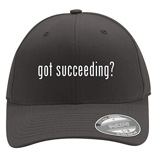 got Succeeding? - Men's Flexfit Baseball Cap Hat, Dark Grey, Large/X-Large