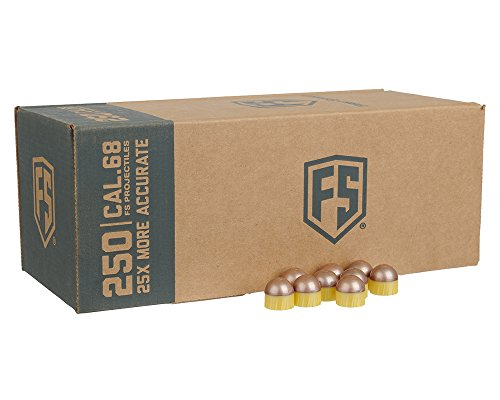 Tiberius Arms First Strike Paintballs (Copper/Yellow Shell/Blue Fill, 250 Count) by Tiberius Arms