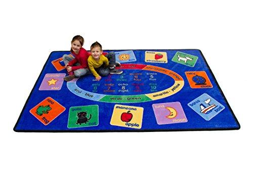 Learning Carpets Smarty Spanish Bilingual Rectangular Rug, Small/5'10