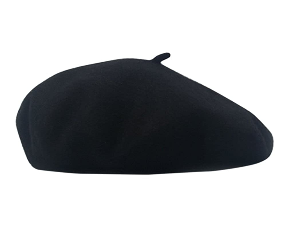 9c2e83bbb5d69 Women s Berets Cap Wool Hat Ladies Beret Warm Winter Fall Elegant French  Painter Cap (Black) at Amazon Women s Clothing store