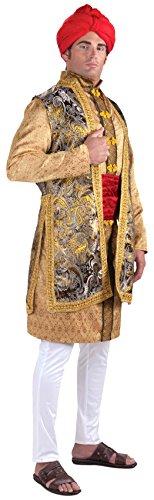 India Costume Male (Forum Novelties Men's Designer Collection Maharaja Costume, Multi, Small)