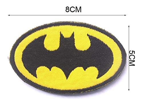 DC Comics Superman Justice League Superheroes Batman Military Patch Fabric Embroidered Badges Patch Tactical Stickers for Clothes with Hook & Loop (color2) -