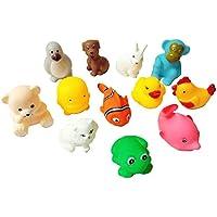 CocoRio Chu Chu Bath's Non-Toxic Animals Toys (Multicolour) - Set of 12 Pieces