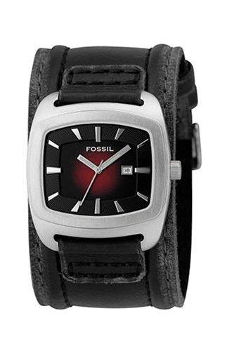 Fossil JR9498 - Reloj analógico y digital de cuarzo para hombre con correa de piel, color negro: Amazon.es: Relojes