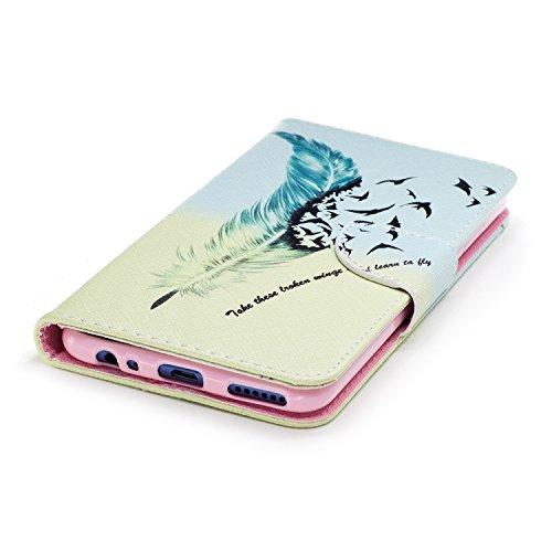 Funda Huawei Mate 10 Lite, CaseLover Libro Flip PU Piel Carcasa para Huawei Mate 10 Lite Smartphone Suave Cuero Folio Tapa y Cartera con TPU Silicona Interna Cierre Magnético Función de Soporte Billet Pluma