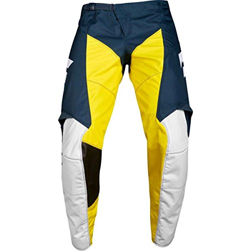 Shift Racing White Label Limited Edition Men's Off-Road Motorcycle Pants - 30/Navy/Yellow by Shift