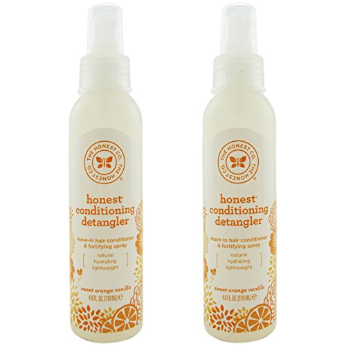 The Honest Company - Conditioning Detangler, Leave-In Conditioner and Fortifying Spray - Sweet Orange Vanilla, 4 fl oz (2 Pack) (Sweet Baby Conditioner compare prices)