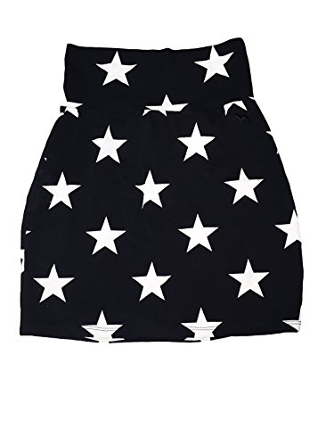 Victoria Secret PINK Black Mini High Wist Skirt with Stars (X-small)