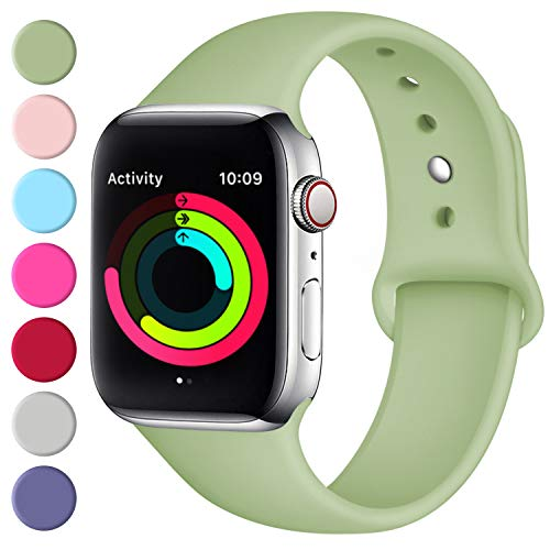 Fuleda Compatible with Apple Watch Band 40mm 38mm, Replacement Sport Bands for iWatch Series 4, Series 3, Series 2, Series 1, Matcha Green, S/M