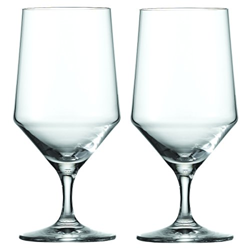 Beverage Crystal Glasses - Schott Zwiesel Tritan Crystal Glass Pure Stemware Collection Water/Beverage All Purpose Glass, 15.3-Ounce, Set of 6