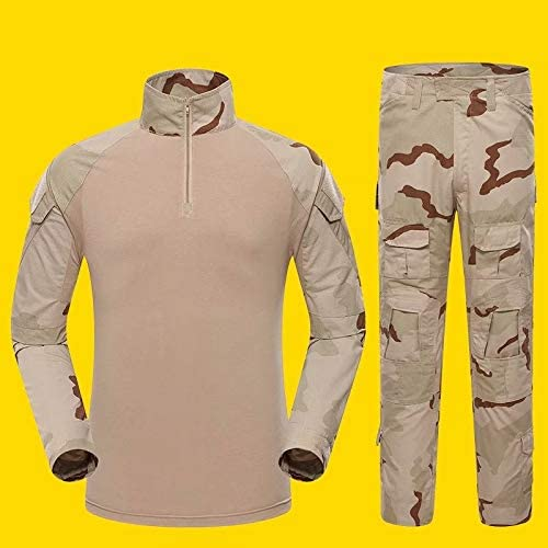 MILASIA Camisa de Combate Militar Airsoft para Hombre Camisa táctica de Uniforme de Camuflaje Mangas de Secado rápido y Traje de Combate Trajes de Combate Pantalones Pantalones de Paintball: Amazon.es: Hogar