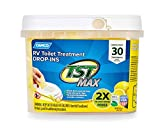 Camco-41577-30-Pack-Strength-TST-UltraConcentrated-Lemon-Citrus-Scent-RV-Toilet-Max-Treatment-DropIns-Formalde