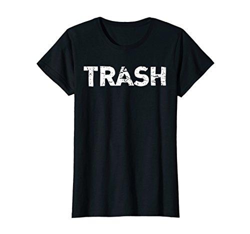 Womens White Trash Funny Halloween T-Shirt Small Black