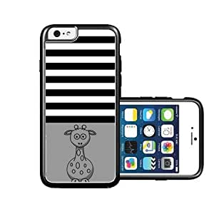 RCGrafix Brand Giraffe Black Stripes & Grey black iPhone 6 Case - Fits NEW Apple iPhone 6