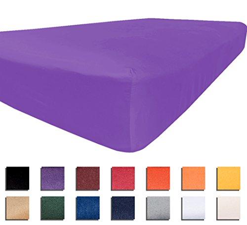 American Pillowcase University Colors Fitted Sheet Microfiber Dorm Bedding - Twin, XL, (Kansas State Sheet Set)